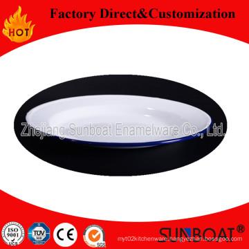 Sunboat 16cmenamel Pie Dish Kitchenware/ Kitchen Appliance Enamel Plate Rice Dish