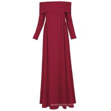 Kate Kasin Sexy Womens Maternité Long Sleeve Off Shoulder Robe Long Maxi Robe Maternité Rouge Vin KK000677-1