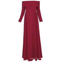 Kate Kasin Sexy Womens Maternity Long Sleeve Off Shoulder Long Maxi Dress Wine Red Maternity Dress KK000677-1