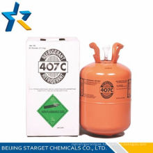 HFC refrigerant gas R407c with High purity R407c in 11.3kg/25lb disposable cylinder