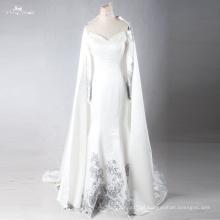 LZF005 Vestidos de noite formal de sereia de alta qualidade projetados novos com boné removível