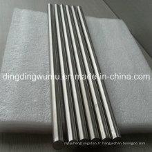 Barre ronde en tungstène pur pour élément de chauffage de four à vide
