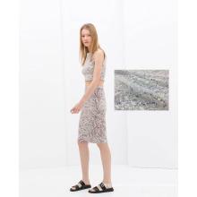 Tissu de robe de dames de dentelle brodé soluble dans l'eau de polyester