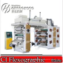 La máquina de impresión flexográfica Mini Ci (tambor central) con video inspecciona