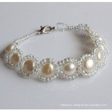 100% Natural Freshwater Pearl Bracelet (EB1530-1)