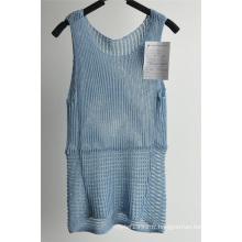 Pull à rayures en acrylique en nylon à dos en dames
