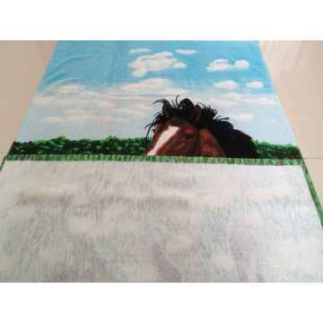 100%cotton printed velour terry  beach towel