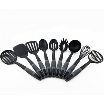 9PCS Värmebeständig Nylon med PP Handle Utensils
