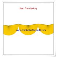 2015 neue Design gelb 10 Fuß Bunting Fan Papier Garland