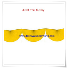 2015 novo design amarelo 10 pé Bunting Fan Paper Garland
