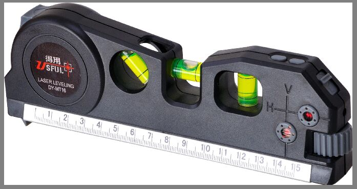 Laser level with tape