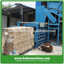 Hydraulic horizontal scrap paper baler machine