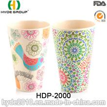 2016 verschiedene Arten BPA frei Bambusfaser Cup (HDP-2000)