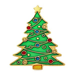 Customized Metal Christmas Tree Lapel Pin