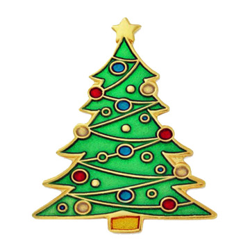 Customized Metal Christmas Tree Lapel Pin