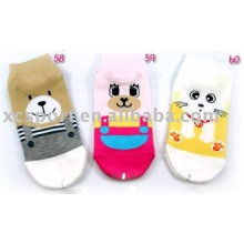 warm cute print children sock with cartoon design