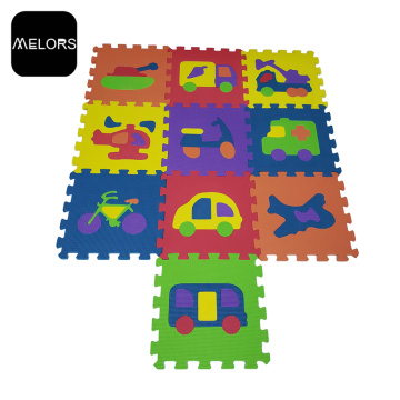 Tapis de puzzle de voiture de jouets éducatifs d'enfants de véhicule d'EVA