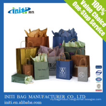 China Factory Quality Recycle Printing brown paper bag wholesale
