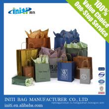 Китай фабрика качества Recycle печати коричневый бумажный мешок оптовой