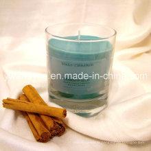 Bougie en verre parfumée cannelle d'hiver