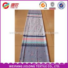 2017 fashion design printed fabric cotton