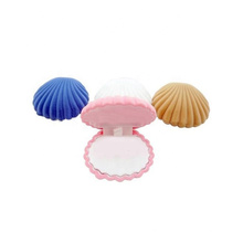 Sea Shell Shaped Wedding Pink Velvet Color Square Ring Box