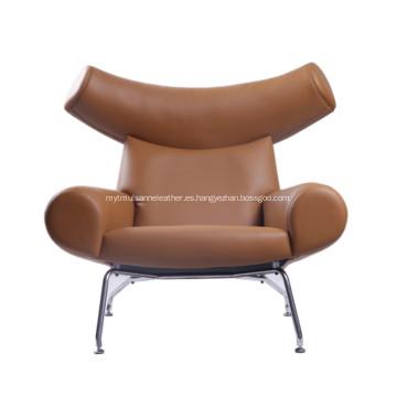 sillón de cuero de buey