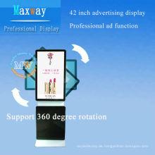 """Bodenständer Netzwerk LCD-Werbung Display 42 """"Unterstützung 360-Grad-Drehung"""