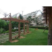 Plataforma de plástico compuesto de madera, madera de construcción plástica, WPC Decking