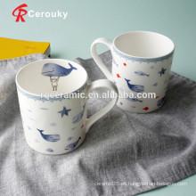 Taza de café de encargo taza de café de hueso barata