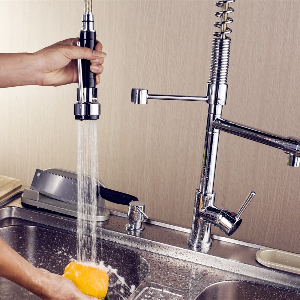 A Revolving Kitchen Faucet
