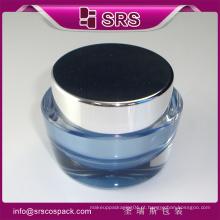 Único frasco de creme, plástico frasco cosmético para creme e embalagens de cosméticos