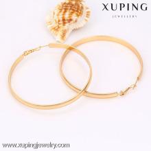 Pendientes redondos grandes plateados oro de la venta caliente de la manera de la joyería 90485-Xuping