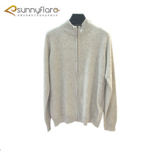 12 gauge full body knitted cashmere sweater coats with zipper