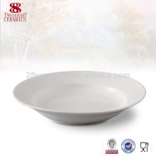 Dinnerware wholesale 8 inch white porcelain soup plate china distributors