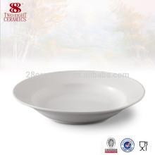 Посуда оптом 8-дюймовый белый фарфор суповая тарелка дистрибьюторов Китай