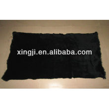 Sheared 1.5cm European rabbit fur plate dyed black color 12skins or 9skins