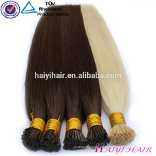 Extensões por atacado do cabelo humano da virgem 100 por atacado de alta qualidade eu derrubo o cabelo