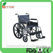 Chaise roulante manuel en acier inoxydable