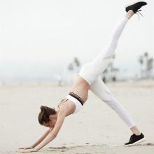 Qualidade material yoga respirável moda feminina esporte leggings calças