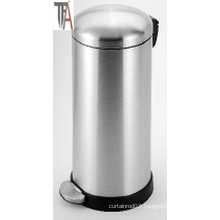 Round Soft-Close Trash Can with High Base Stainless Steel Baskets