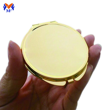 Personalized gold make up pocket mirror