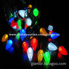 Multi-color LED String Lights for Outdoor Decorations, with H3 Light Chain and 100 to 240V Voltage