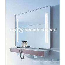 Nuevo y naturalista espejo pintado gabinete IP44 luces