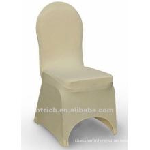 couverture de chaise de banquet, couverture de chaise de lycra, CTS801 Ivoire, adapté pour toutes les chaises