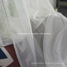 Tissu à rideaux transparents de première qualité de première classe