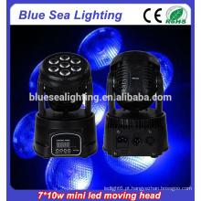 7x10w rgbw 4in1led baratos movendo cabeça luzes