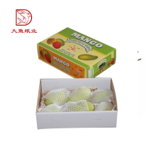Wholesale new design popular custom multicolored corrugated box for fresh mango