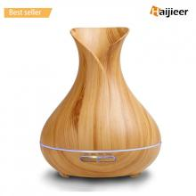 Humidificateur ultrasonique d'huile d'air de grain en bois d'Aromatherapy 400ml