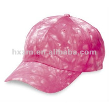 6 Panel Relaxed Tie Dyed Cotton caps